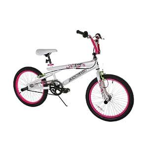 Dynacraft Girl's Magna Torrid Bike (White/Pink, 20-Inch)