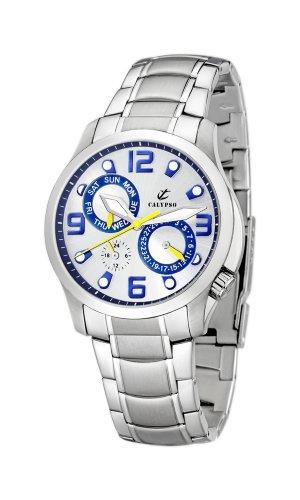 Calypso Men's K5187/5 Kamel Blue Dial Multifunction Watch