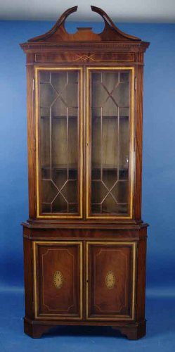 Buy Antique Style English Mahogany Corner Cabinet B00417RUNI