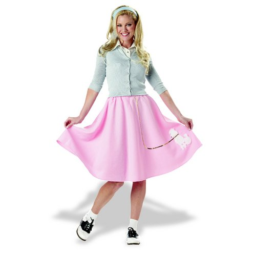 California Costumes Women's Poodle Skirt Costume,Pink,Medium