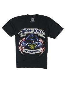 HQ ロックTシャツ Bon Jovi ボン ジョヴィ FOREVER Mサイズ ブラック gt2-0086-m-blk1