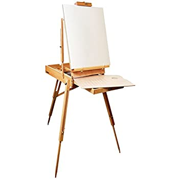 US Art Supply Coronado French Style Easel & Sketchbox with 12