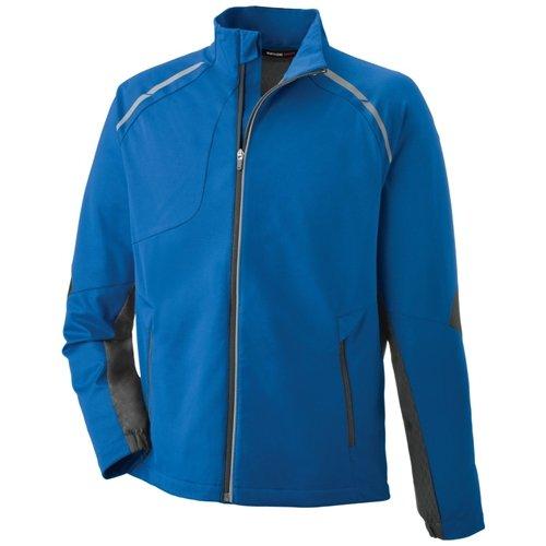 Ash City Mens Dynamo Hybrid Performance Soft Shell Jacket  Olympic Blue/Silk Black