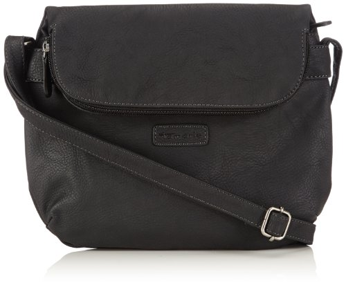 Tamaris Womens EMMA Crossover Bag Shoulder Black Schwarz (black 001) Size: 37x39x14 cm (B x H x T)