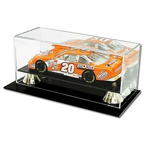 BCW Deluxe Acrylic 1:18 Scale Car Display - With Mirror - Die Cast NASCAR, Racing - Sports Memoriablia Display Case - Sportscards Collecting Supplies