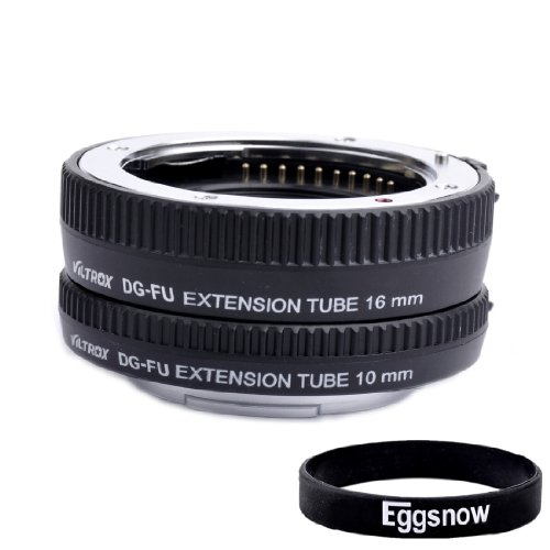 Eggsnow VILTROX Autofocus Extension Tube Macro Ring Set for Fujifilm X Mount Lens SLR DSLR (10mm, 16mm,fits for FX X-E1 X-E2 X-Pro1 X-A1 X-M1) for Macro Photography – Black