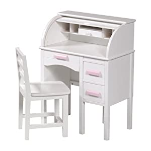 Jr Rolltop Desk White by Guidecraft