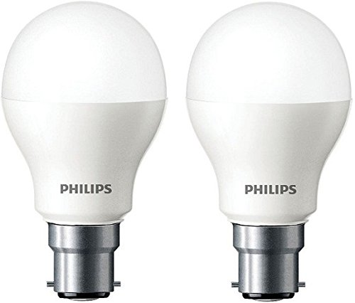 Philips 4W B22 LED Bulb (Cool Day Light, Pack of 2)
