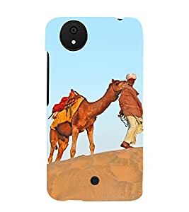 Desert King 3D Hard Polycarbonate Designer Back Case Cover for Micromax Canvas Android A1 AQ4501 :: Micromax Canvas Android A1