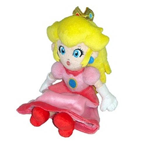 "Little Buddy Toys Official Super Mario Plush 8"" Princess Peach - 1"