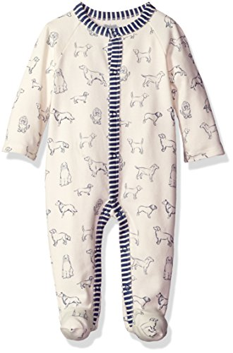 Mud Pie Baby Boys Footed One Piece Striped Sleeper