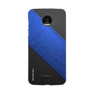 iSweven MotoZ_1345 Printed high Quality Blue_and_black_wallpaper Design Back case cover for Motorola Moto Z