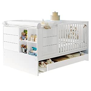 pali kinderbett umbaubar zum jugendzimmer mit juniorbett voyager wei baby. Black Bedroom Furniture Sets. Home Design Ideas