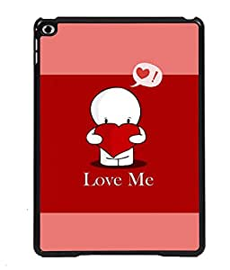 PRINTVISA Love Me Premium Metallic Insert Back Case Cover for Apple IPad Air 3 - D5700