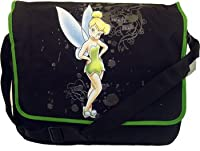 Disney Tinkerbell Messenger Bag ~ Black & Green by Classy Joint