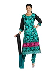 Tanishqa Women Cottong Fabric Stitched Full Embroided Straight Long Suit