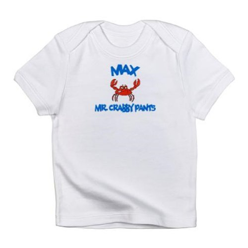 Personalized Mr Crabby Pants Lobster Shirt For Baby, Infant, Toddler, And Kids - Customize With Any Boy Or Girls Name, Birthday Present Custom Gift Collection front-930096