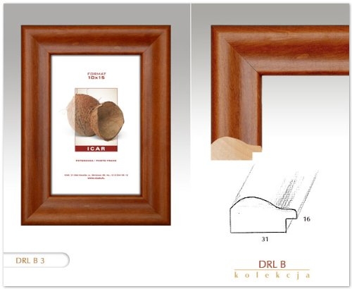 cadres cadre drl b marron fonc 20x30 cm cadre en bois cadre photo. Black Bedroom Furniture Sets. Home Design Ideas
