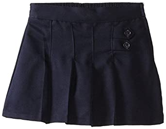 (4717) Genuine School Uniforms Girls 2 Tab Pleated Scooter Skort (Sizes 4-16) in Navy Size: 4