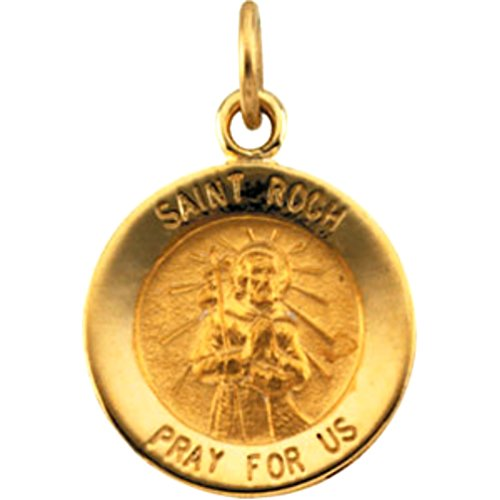 Solid 925 Sterling Silver Antiqued-Style Saint Peter Medal 15mm x 20mm