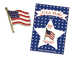 AMERICAN FLAG TAC PIN Carded