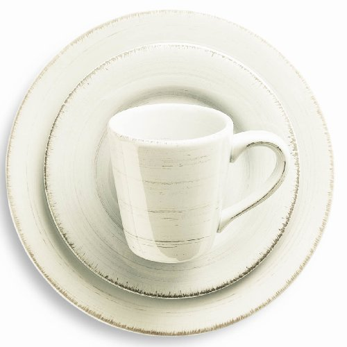 Tag Sonoma Ironstone Ceramic 16-Piece Dinnerware Set Service for 4, Ivory