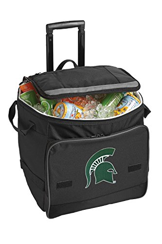 Michigan State University Rolling Cooler Msu Spartans Logo -Ncaa Insulated Wheeled Bag front-980840