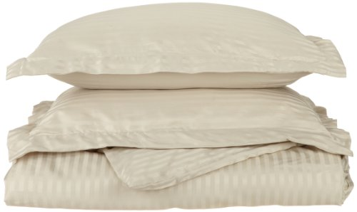 Impressions 1500 Series Wrinkle Resistant Twin/Twin Xl Duvet Cover 2-Piece Set Stripe, Tan front-239129
