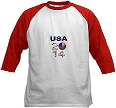 CafePress USA soccer Baseball Jersey Kids Baseball Jersey