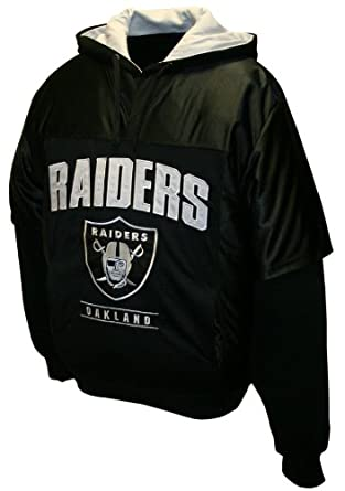 NFL Mens Oakland Raiders Drive Pullover Jersey Hoodie by MTC Marketing, Inc