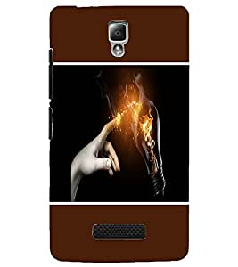 PrintDhaba Power Touch D-1277 Back Case Cover for LENOVO A2010 (Multi-Coloured)