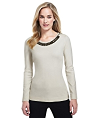 M&S Collection Detachable Necklace Shell Top with StayNEW™