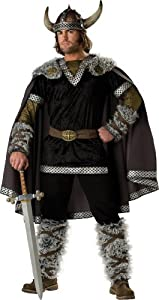 InCharacter Costumes, LLC Viking Warrior Adult Male, Black/Gold, Medium