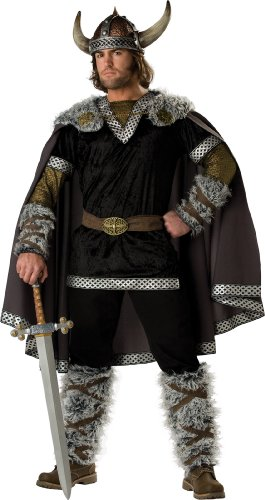 InCharacter Costumes, LLC Viking Warrior Adult Male, Black/Gold, X-Large