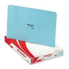 Pendaflex File Guides with Blank Tabs, Legal Size, Blue Pressboard, 50 Per Box (PN305)