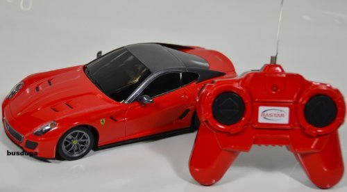 RC Ferrari 599 GTO – Maßstab.: 1:24 – ferngesteuert – komplett Set – Farbe.: rot – LIZENZ-NACHBAU günstig