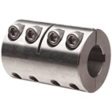 Ruland PCMR Clamping Beam Coupling, Polished Aluminum, Metric