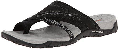 Merrell Women's Terran Post Sandal,Black,7 M US