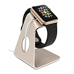ZVOLTZ Apple Watch Stand, Watch Charging Dock Stand for Apple Watch Standard/Sport/Edition 38mm & 42mm, Easy View Charging Dock/Stand, Charger Not Included - Gold