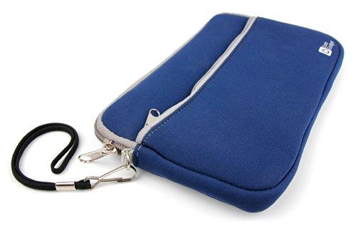"Blaues Schutz-Etui (7"" Format) aus Neopren für externe Toshiba-Festplatte PA4265E-1HJ0 StorE Alu 2S (1TB)"