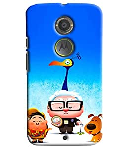 Blue Throat Pappu Pappa And Dogi Printed Designer Back Cover For Moto X2