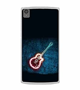 Shining Guitar 2D Hard Polycarbonate Designer Back Case Cover for OnePlus X :: One Plus X :: One+X