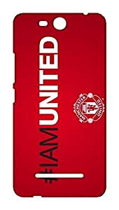 Micromax Canvas Juice 3 Q392 Manchester United Football Club Design Back Cover - Printed Designer Cover - Hard Case - MCJ3CMBMUFC0146