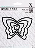 Xcut 4 Piece Butterfly Nesting Dies Use ,Sizzix,Big Shot Craft Machines