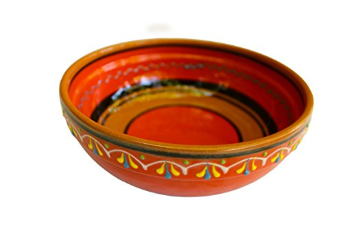 Terracotta Orange, Deep Dish - Hand Painted From Spain (Orange Ceramic Pitcher compare prices)