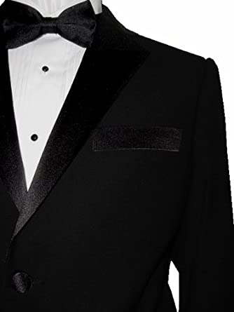 Franco Ricci Super 140's Wool Men's FASHION FIT Tuxedo Suit Solid Black 2 Button (50R)