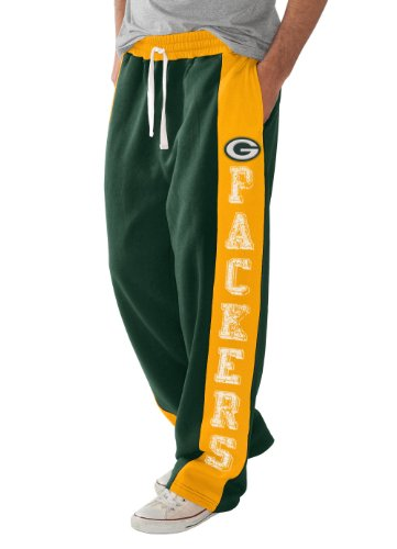Green Bay Packers Green Sweatpants with Stripe (Medium) at Amazon.com