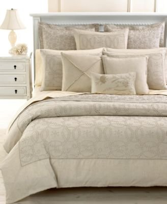 Martha Stewart Collection Lunette Beige Twill Weave 500 Tc Pair Of Standard Pillowcases front-1068571