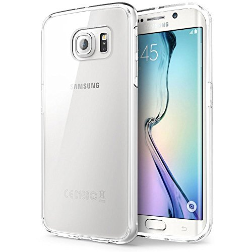 Samsung Galaxy S6 Edge Case - MTT® NON SLIP NEO FIT [Dual Layer] [ Crystal Clear] [ Drop Protection] [ Bumper ] - Ultimate protection from drops and impact for Samsung Galaxy S6 Edge -Crystal Clear