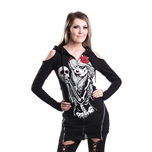 Vixxsin -  Felpa con cappuccio  - ragazza Black XL